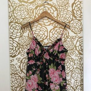 NWT Speechless Floral Black Lingerie Night Gown